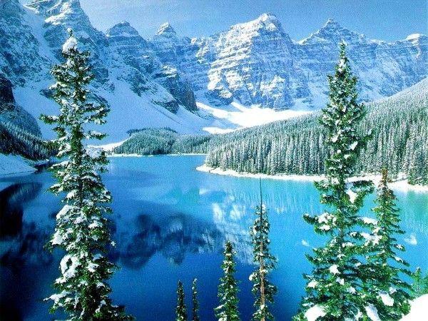 Fond d ecran paysage hiver for Fond ecran hiver hd